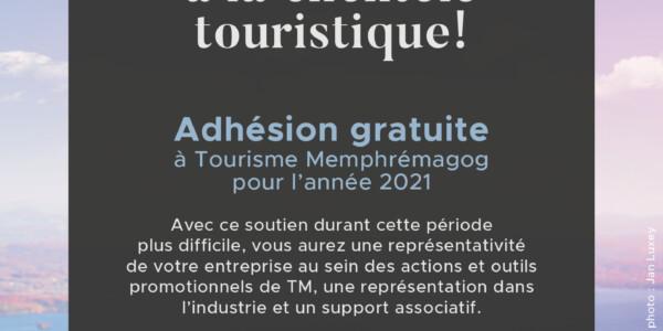 Devenez membre de Tourisme Memphrémagog gratuitement